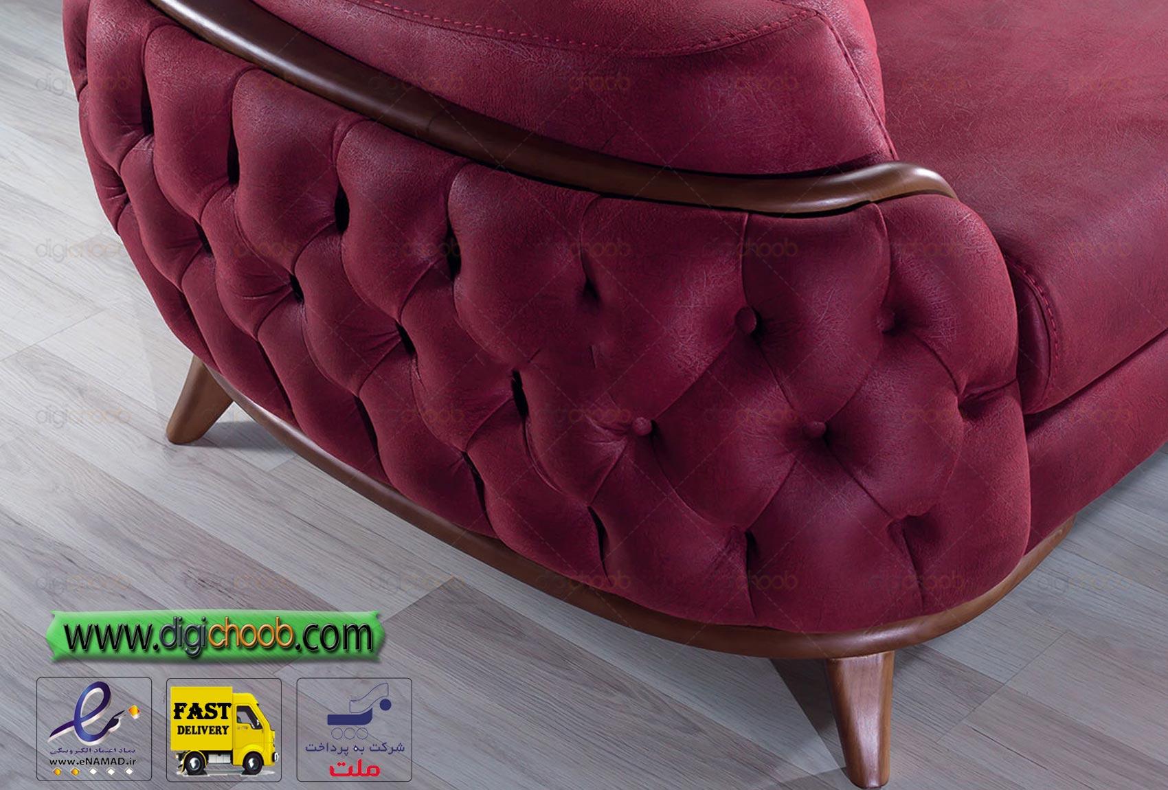 مبل راحتی چستر ال زارا نمای چوبی