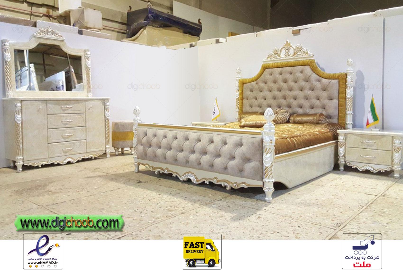 سرویس خواب اسپرت سفید زیبا و شیک 2020 سفید مناسب برای جهیزیه و عروس خانم ها